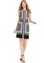 Ivanka Trump Graphic-Print Zip-Front Dress
