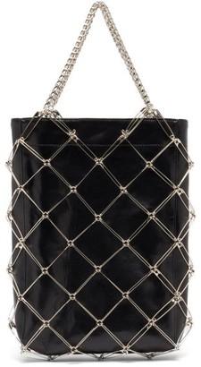 Noir Kei Ninomiya Safety Pin & Faux-leather Bag - Black