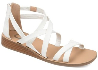 Brinley Co. Womens Caged Wedge Sandals