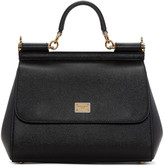 Dolce & Gabbana Black Medium Miss Sicily Bag