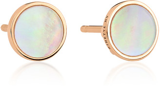 ginette_ny Ever 18K Rose Gold Mother-Of-Pearl Disc Earrings