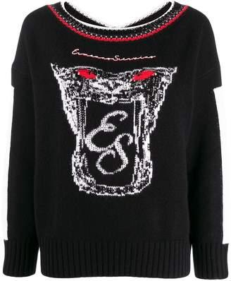 Ermanno Scervino Logo Embroidered Sweatshirt