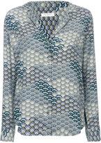 Equipment waves pattern shirt - women - Silk - XS