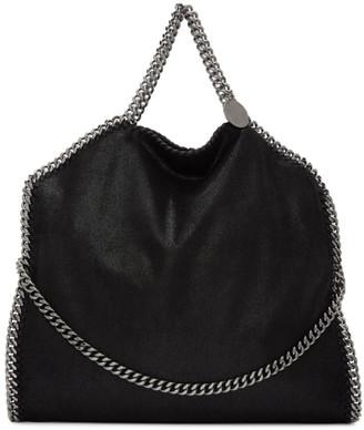 Stella McCartney Black Three-Chain Falabella Tote