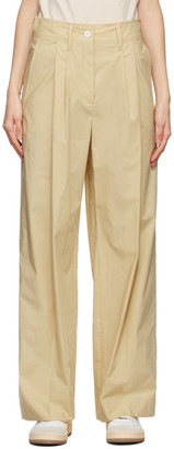 Lanvin Beige High-Waisted Large Trousers