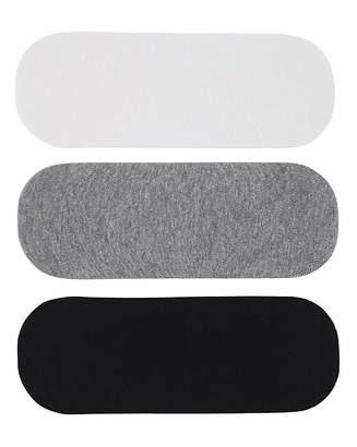 Naturally Close 3 Pack Black/White Footsie Socks