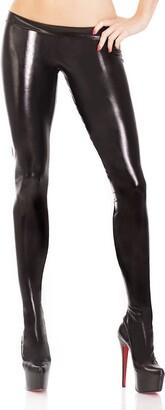 Coquette Women's Darque Wet Look Footed Leggings