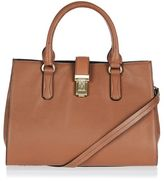 Holland leather lock holdall