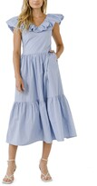 Thumbnail for your product : ENGLISH FACTORY Ruffle Midi Dress