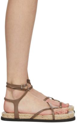 3.1 Phillip Lim Brown Yasmine Strappy Espadrille Sandals
