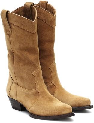 Saint Laurent Lukas Western suede boots
