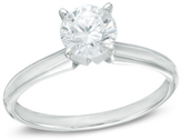 Zales 1-1/2 CT. Diamond Solitaire Engagement Ring in 14K White Gold (I/SI2)