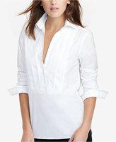Lauren Ralph Lauren Petite Pleated-Front Tunic