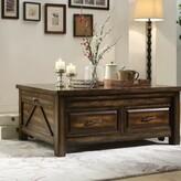 Almendarez Transitional Rectangular Wooden Extendable Coffee Table with Storage Loon Peak