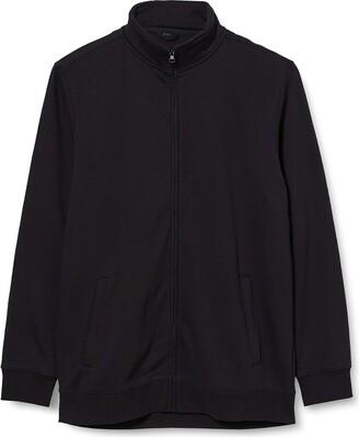 Build Your Brand Men's High Neck Sweat Zip Cardigan Jacket