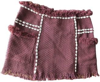 Isabel Marant Burgundy Linen Skirt for Women