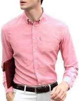 OCHENTA Men's Slim Fit Solid Button Down Oxford Dress Shirt Tag 3XL - US L