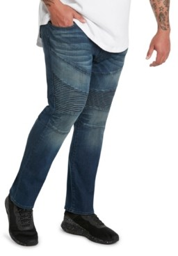 Mvp Collections By Mo Vaughn Productions Mvp Collections Men's Big and Tall Denim Biker Jean