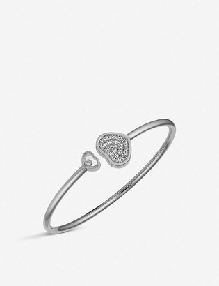Chopard Happy Hearts 18ct white-gold and diamond bangle