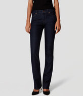 LOFT Petite Curvy Boot Cut Jeans in Dark Rinse Wash