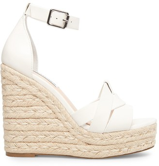 Steve Madden Sivian White Leather