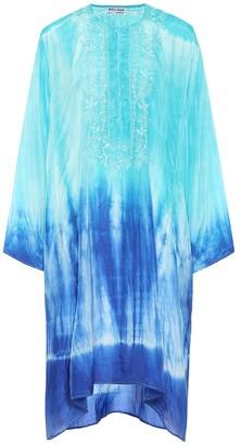 Juliet Dunn Tie-dye silk kaftan