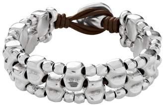 Uno de 50 Lusala Beaded Multi-Strand Leather Bracelet