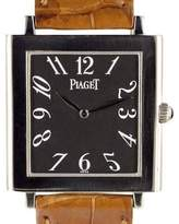 Piaget 9930 Altiplano Mechanique Tank 18K White Gold Manual 29mm Womens Watch