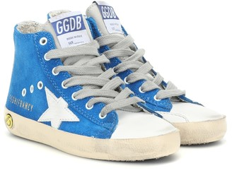 Golden Goose Kids Francy high-top suede sneakers