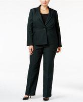 Le Suit Plus Size One-Button Striped Pantsuit