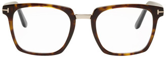 Tom Ford Tortoiseshell Blue Block Bridge Glasses
