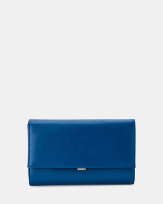 Olga Berg Women's Blue Clutches - Madison Fold Over Clutch - Size One Size at The Iconic
