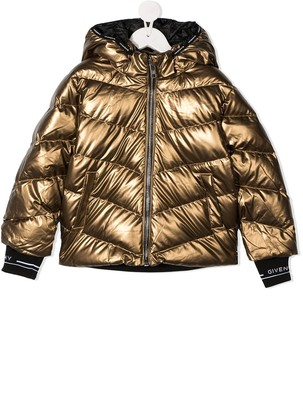 Givenchy Kids Hooded Padded Jacket
