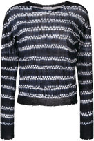 Helmut Lang knit shibori sweater