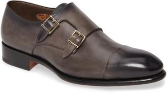 Santoni IRA Double Monk Strap Shoe