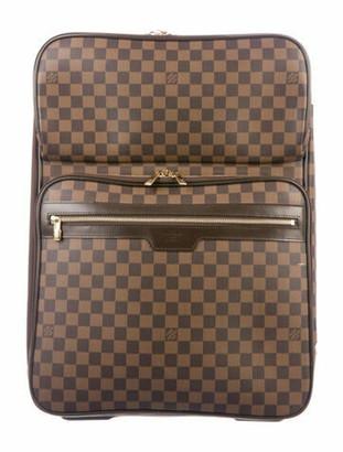 Louis Vuitton Damier Ebene Pegase 55 Business Suitcase Brown