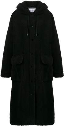 STAND STUDIO hooded shearling coat