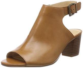 Clarks Deloria Gia, Women's Ankle-Strap Ankle Strap Sandals, Brown (Tan Leather -), (40 EU)