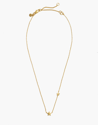 Madewell Hammered Star Asymmetrical Choker Necklace