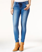 Rampage Juniors' Chloe Curvy Lace-Up Super Skinny Jeans