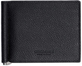 Giorgio Armani Black Tumbled Leather Wallet