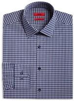 HUGO Small Plaid Overcheck Regular Fit Dress Shirt