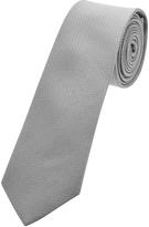 Oxford Silk Tie Grey Dots Skny