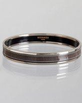 black enamel pixelated 'Recherche' small bangle