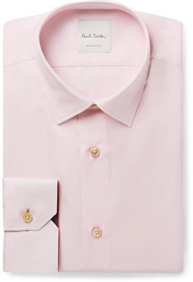 Paul Smith Light-Pink Soho Slim-Fit Cotton-Poplin Shirt - Men - Pink
