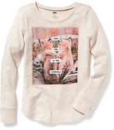 Old Navy Slub-Knit Graphic Tee for Girls