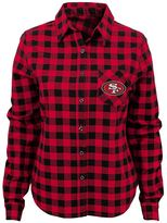 Juniors' San Francisco 49ers Buffalo Plaid Flannel Shirt