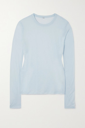 Base Range Bamboo-jersey Top - Blue