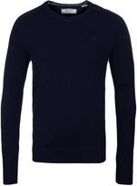 Penguin Dark Sapphire V Neck Lambswool Sweater