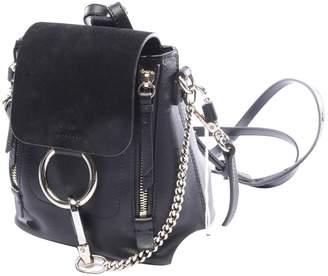 Chloé Faye Black Leather Backpacks